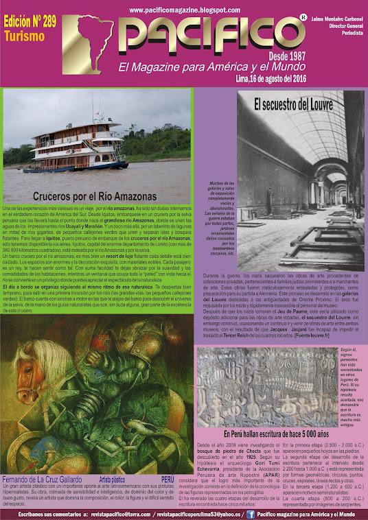 Revista Pacífico Nº 289 Turismo