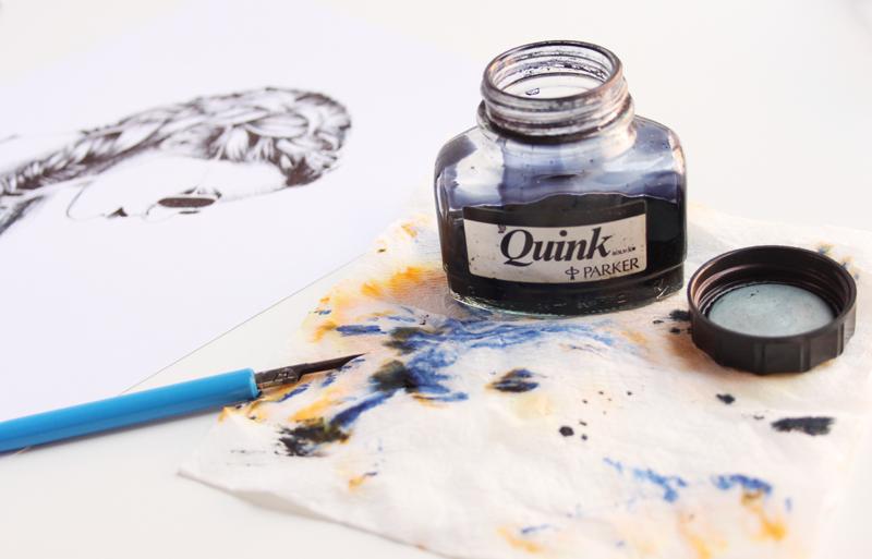 Tinta quink parket negra