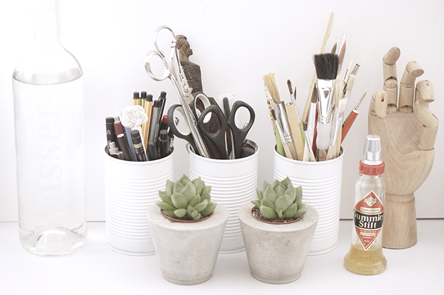 Ynas Design Blog   DIY Stiftehalter aus Konservendosen