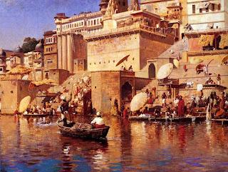 Varanasi ghats in 1883