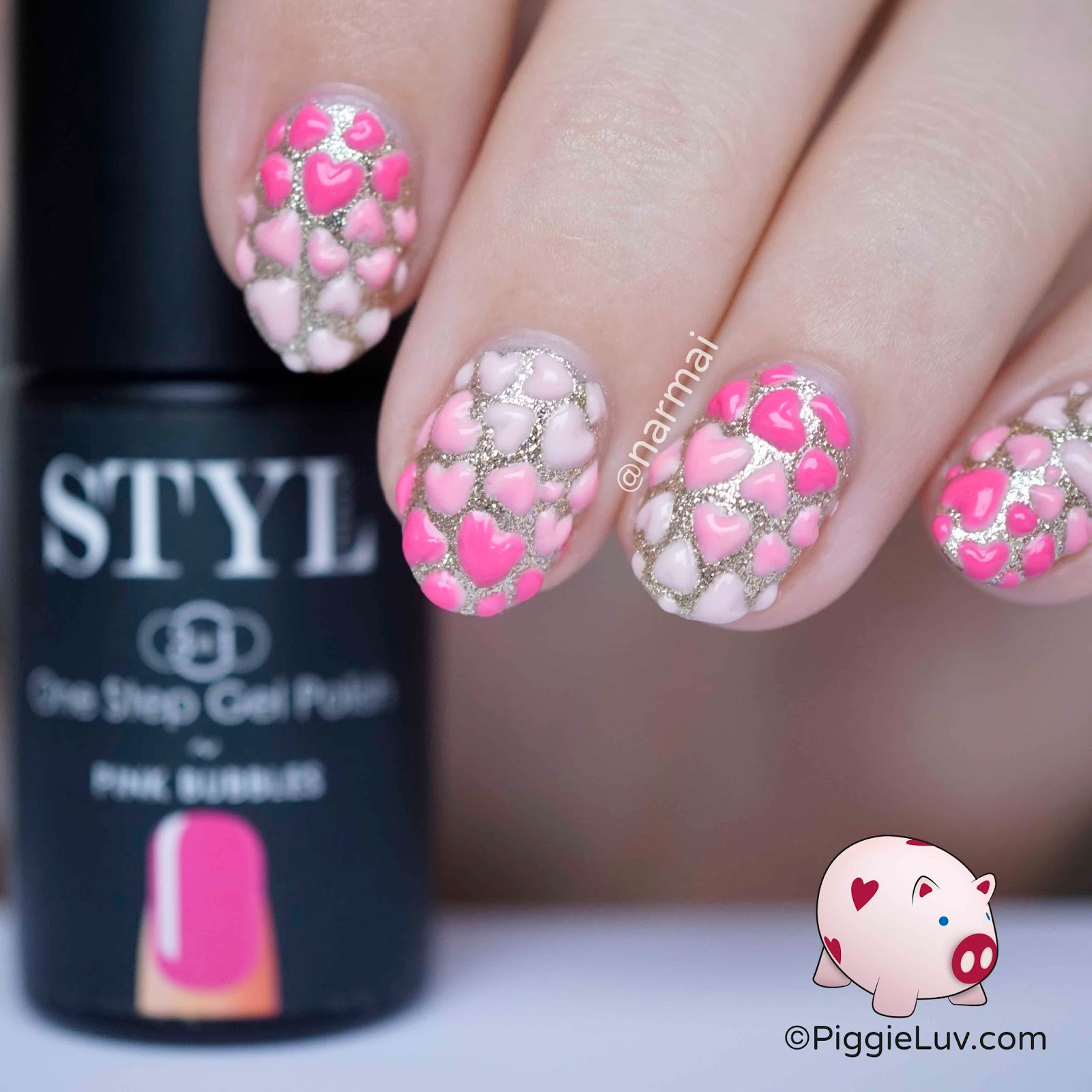 Piggieluv 3d Hearts Nail Art For Valentines Day 3d Hearts Nail Art For Valentines  Day Prinsesfo