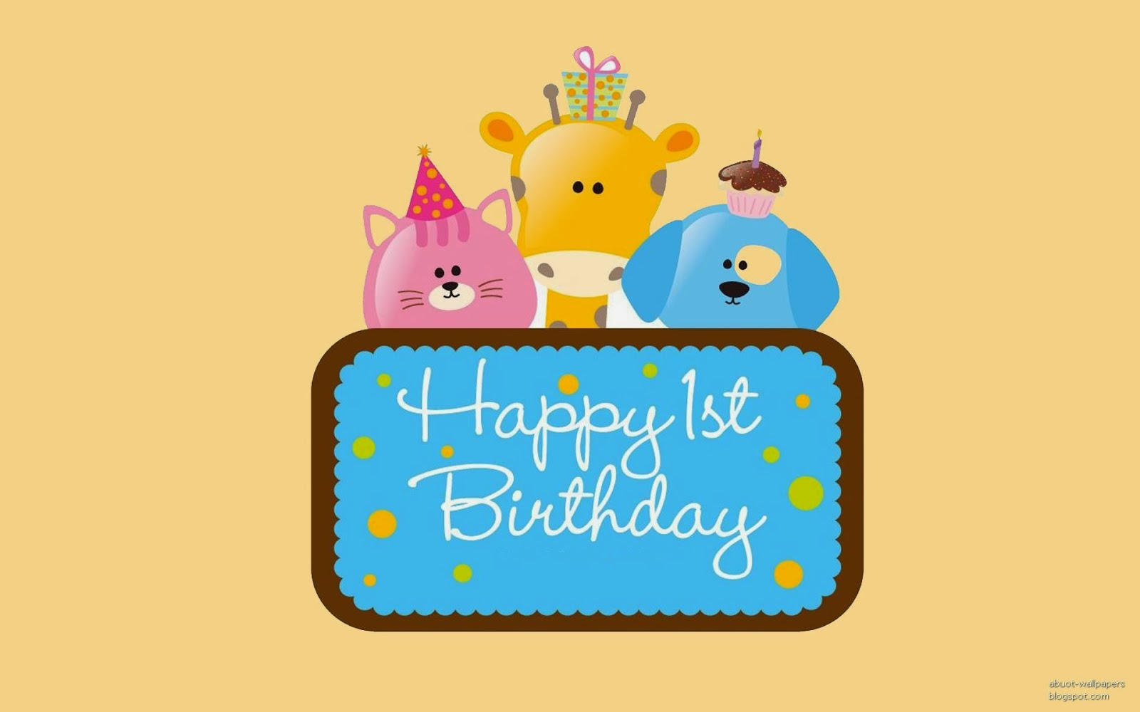 Very Cute Happy Birthday Card With Wish Message For Kids And