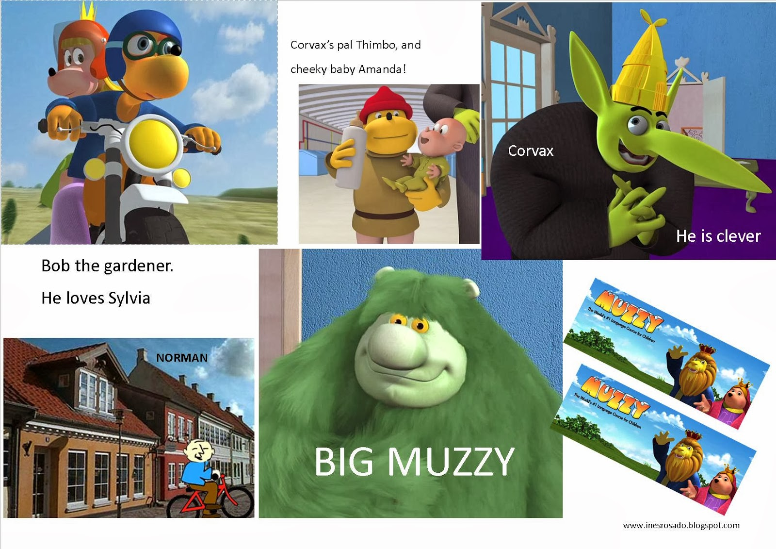 Muzzy Characters