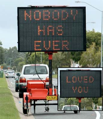 funny hacked road signs