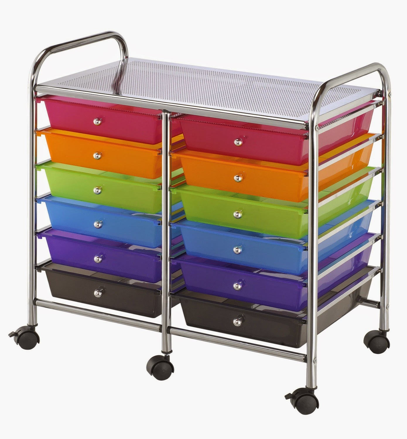 Alvin Rolling Storage Carts Multicolor