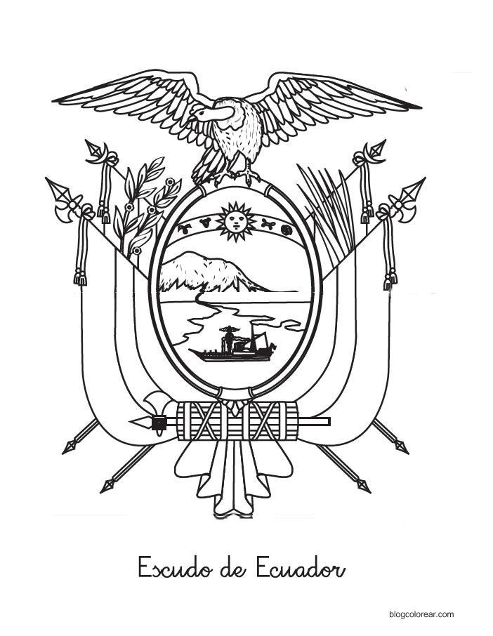 Escudo De Ecuador Bandera De Ecuador Escudo De Ecuador Mapa Bandera