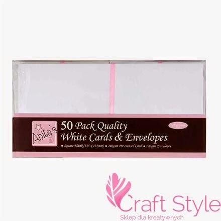http://craftstyle.pl/pl/p/Koperty-i-karty-kwadratowe-Anitas-zestaw-50szt-BIALE/12447