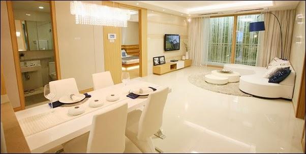 Phòng khách căn hộ Cantavil Premier