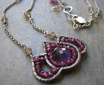 Lotus wire sculpture necklace
