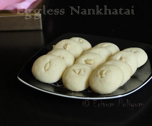 eggless nankhatai | cardamom flavored biscuits(eggless)