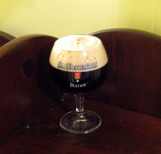 American Dubbel in a St. Bernardus Tulip.