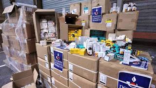 Medicamentos falsos apreendidos numa ação anterior em 2009