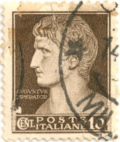 Stamp August the great, Imperator, Poste Italiane