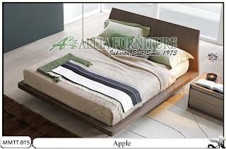 tempat tidur minimalis modern apple allia furniture