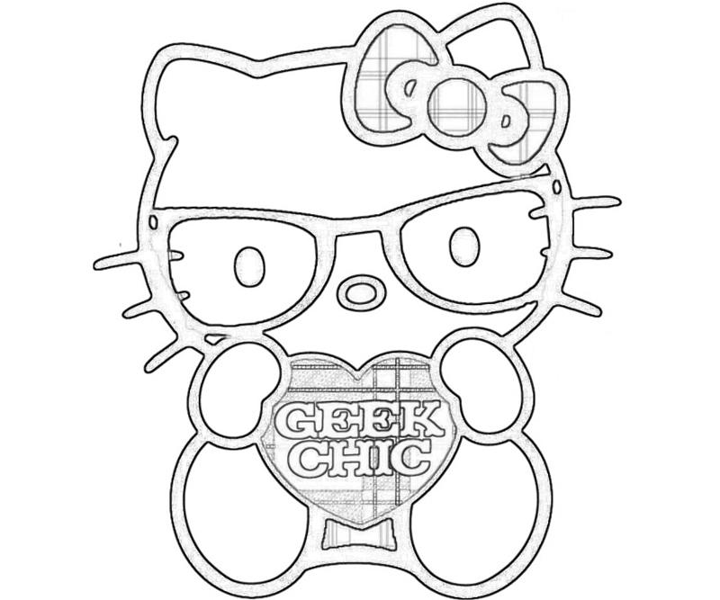 love hello kitty coloring pages - photo#7