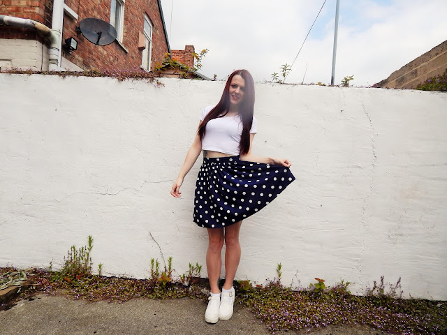 Newlook polka dot skirt