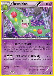 Reuniclus Plasma Blast Pokemon Card