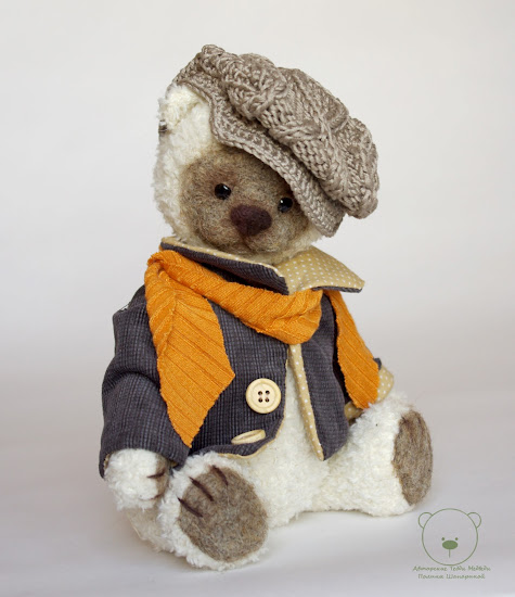мишка тедди, медведь, авторские игрушки,  игрушки ручной работы, старое фото, Париж, француз, мишка в пиджаке, белый мишки
