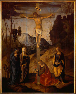 Jesus crucified on cross, painting