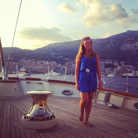 A classic style yacht at anchor in Monaco