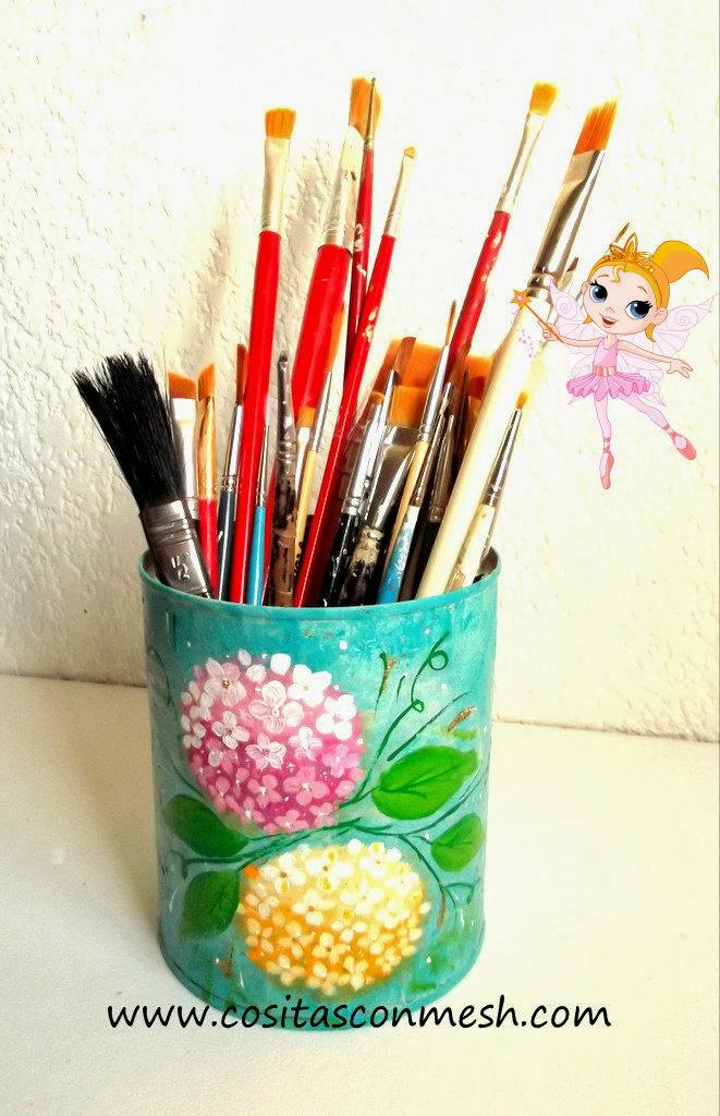 Como decorar una lata reciclada cositasconmesh - Como decorar unas ...