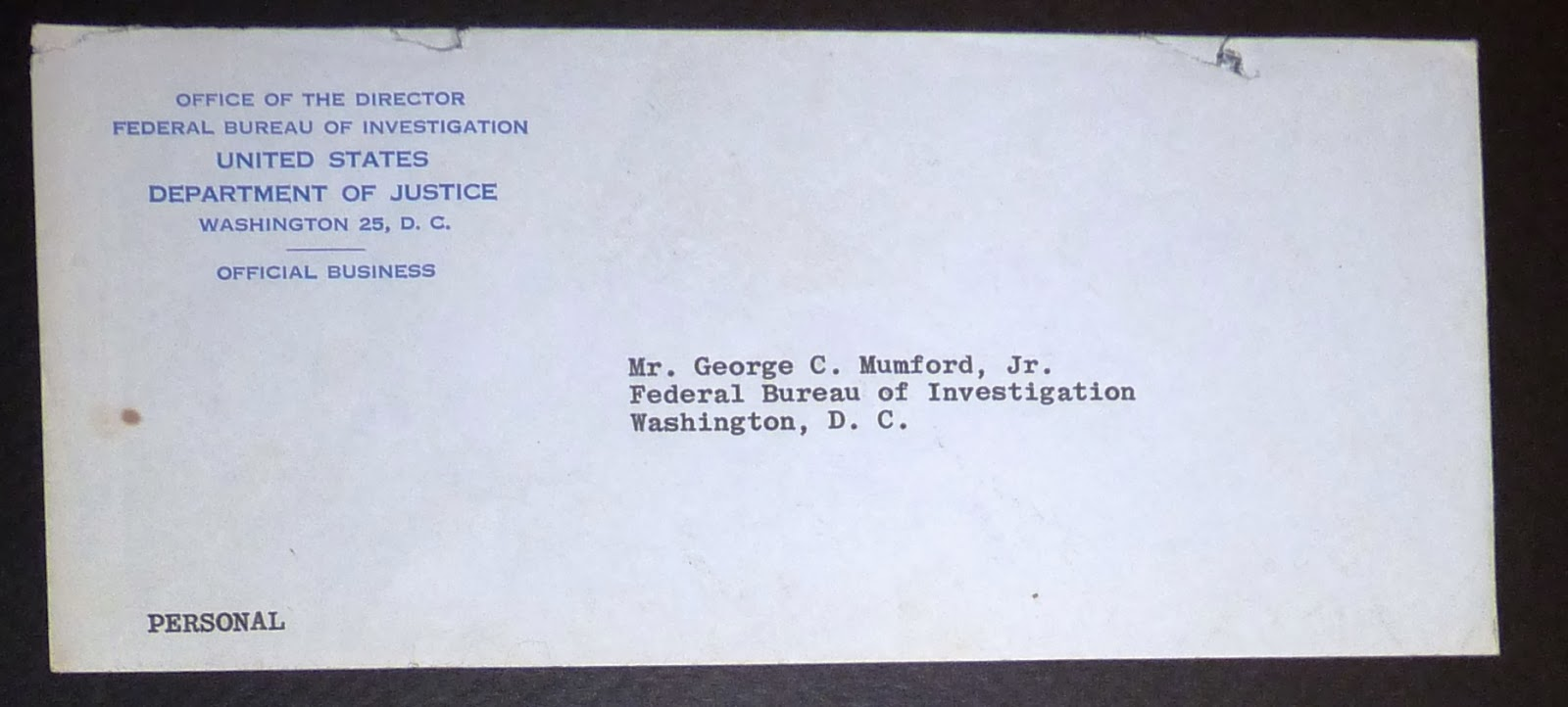 [kennedy Assassination]  Typed Letter