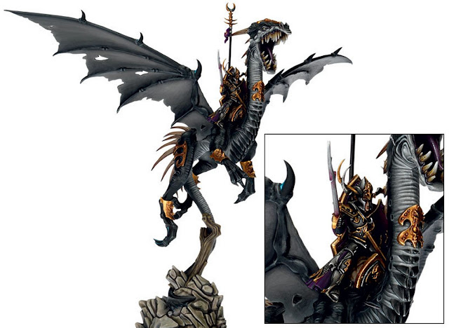 painted Dark Elf Black Dragon model photo