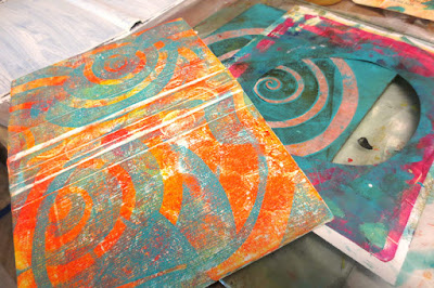 Turning old Trixie Belden book into abstract art