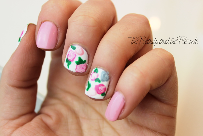 Ready, Set, Polish, Floral Nail Art, Nailpolish, Flowers, essence, KIKO
