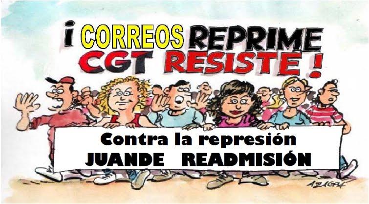 Campanya solidària per la readmissió del sindicalista Juande. Prou persecució, prou repressió!