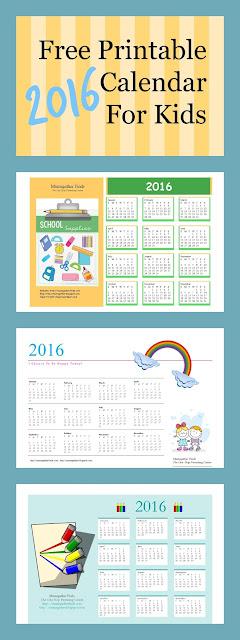 Free 2015 Calendar For Kids