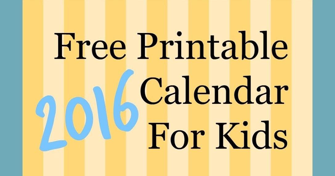 School Children Calendar Template Vheo