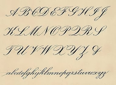 Tudor handwriting hand writing Calligraphy alphabet cursive