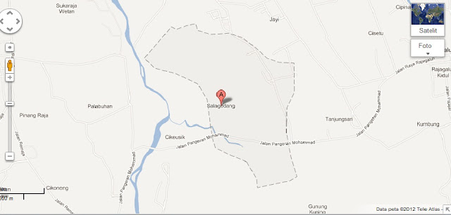 Peta desa salagedang, sejarah desa salagedang, info majalengka