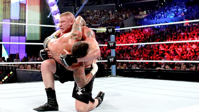 Wwe summerslam 2013 cm punk vs brock lesnar with paul heyman the match was epic and brutal brock lesnar ended up winning enjoy the photos voltagebd Choice Image