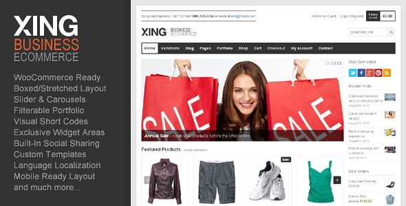 ThemeForest - Xing - Business / ecommerce WordPress Theme