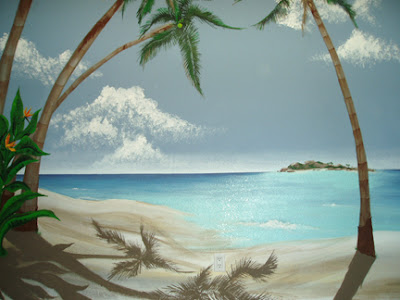 nice tropical mural wall