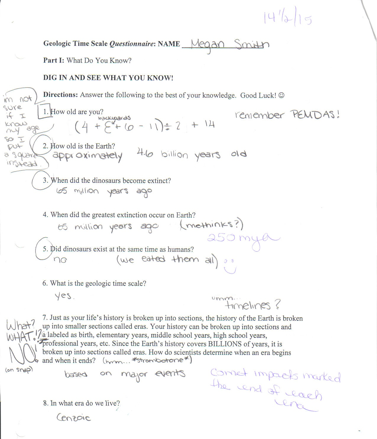 Worksheets Geologic Time Worksheet i like it when you make sentences geological time scale worksheet bet mrs appleby had a fun grading this paper
