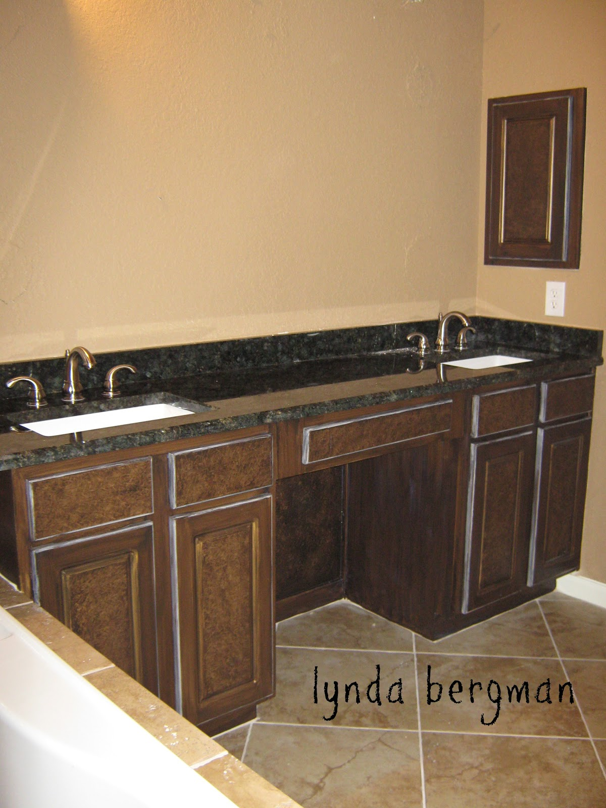 How To Paint Over Stained Bathroom Cabinets lynda bergman decorative artisan: painting white bathroom cabinets