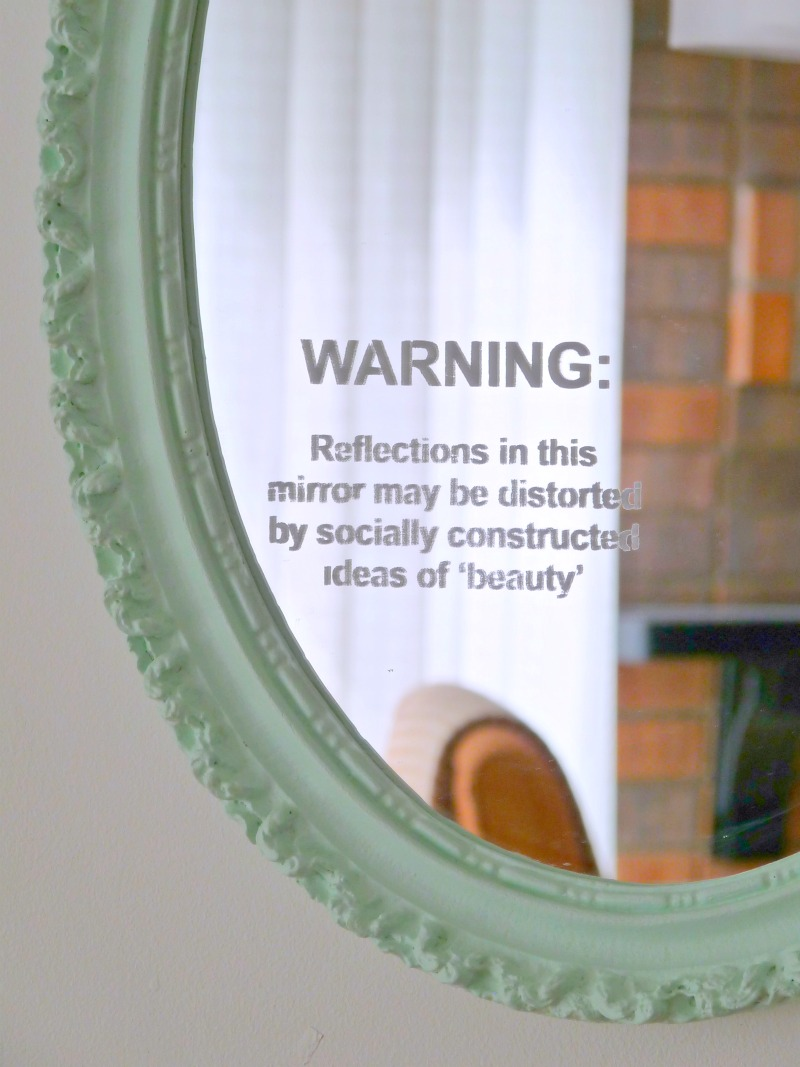 How to Stencil a Mirror - A Feminist DIY Craftivism Project