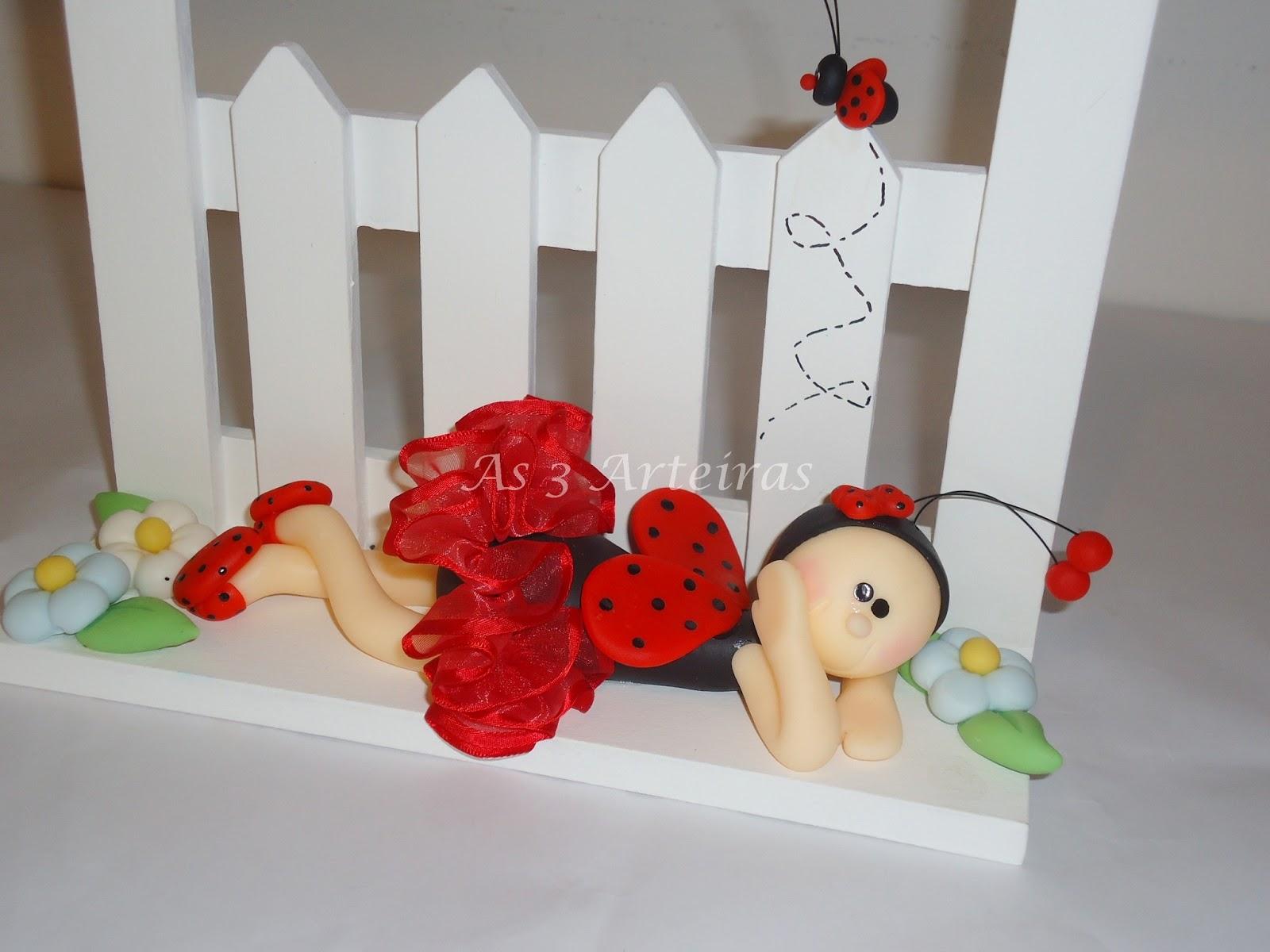 As 3 Arteiras Artes em biscuit e caixas Decoração para quarto de bebês
