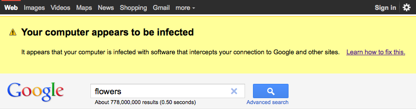 Google Alerta de Malware