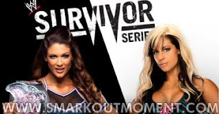 Watch WWE Survivor Series 2012 PPV Online Divas Title Match Eve vs Kaitlyn
