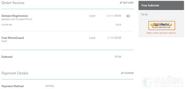 Cara Membeli Domain di NameCheap dengan Paypal 5