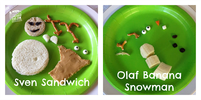 FROZEN fun food Sven Sandwiches and Olaf Banana Snowmen #FrozenFun #shop #cbias