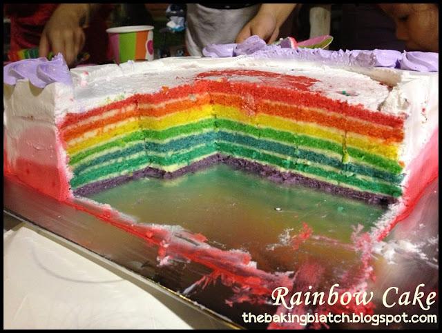 Baking Biatch Rainbow Cake