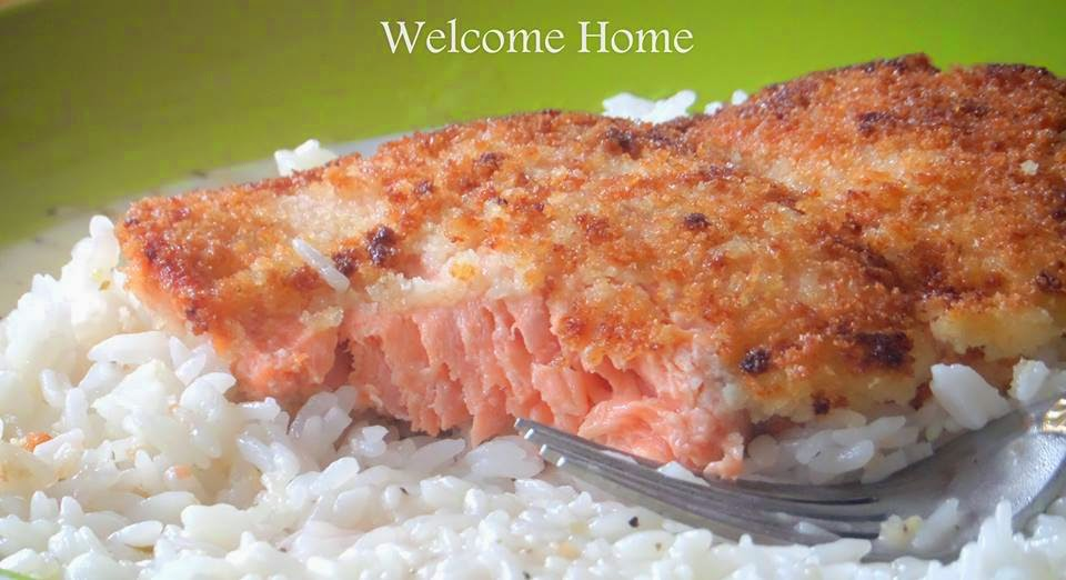 Welcome Home Blog: ♥ Panko Crusted Salmon in Lemon Cream Sauce