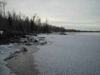 Burntside Lake newly frozen shoreline, http://huismanconcepts.com/
