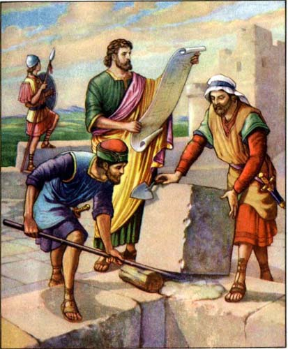Nehemiah Rebuilds the Walls Guide to Coloring Pages for the Story
