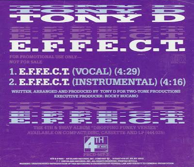 Tony D – E.F.F.E.C.T. (Promo CDS) (1990) (320 kbps)